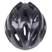18 فتحات خفيفة متكاملة مصبوب الرياضة الدراجات خوذة مع قناع دراجة هوائية جبلية دراجة الكبار الأسود