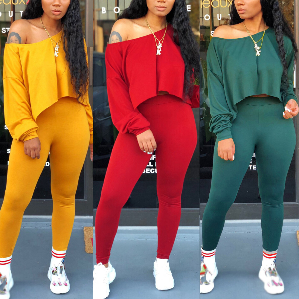 Seamless Yoga Suit 2 Piece Sports Loose Hem Crop Top Seamless Leggings Sport Set Gym Clothes Fitness Tracksuit Workout Set Femme