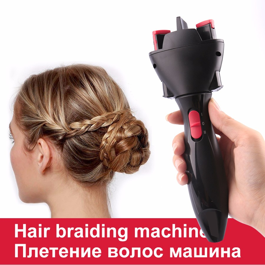 Electric Hair Braider Automatic Braider <font><b>Knitting</b></font> <font><b>Device</b></font> Hair Braider Machine Braiding Hairstyle Cabello Hair Styling Tool image