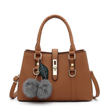 Women Handbags New Fashion Solid Color PU Leather Large Capacity Ladies Crossbody Bags Female Totes Femme