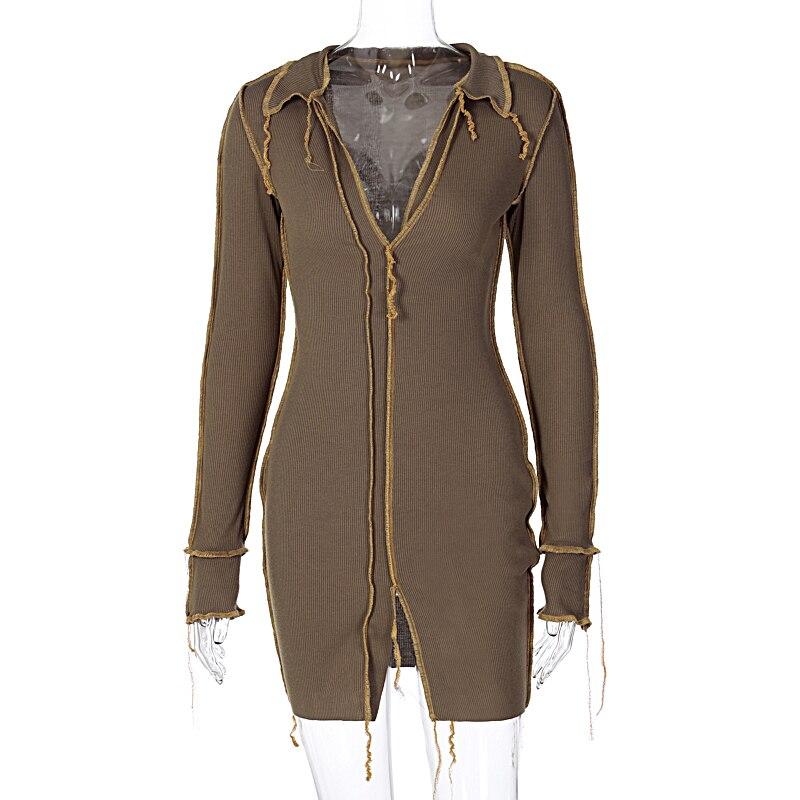 H2d834249e7ef44c4a0b6bdd3e8f1b4deX - Hugcitar 2020 Long Sleeve Patchwork Sexy Mini Dress Autumn Winter Women Fashion Streetwear Outfits Clit Club Y2K Clothing