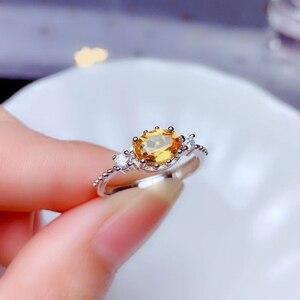 Image 5 - CoLife biżuteria 925 srebrny pierścień cytrynowy na odzież na co dzień 4mm * 6mm naturalny VVS klasy cytryn pierścień moda żółty kryształ srebrny pierścień