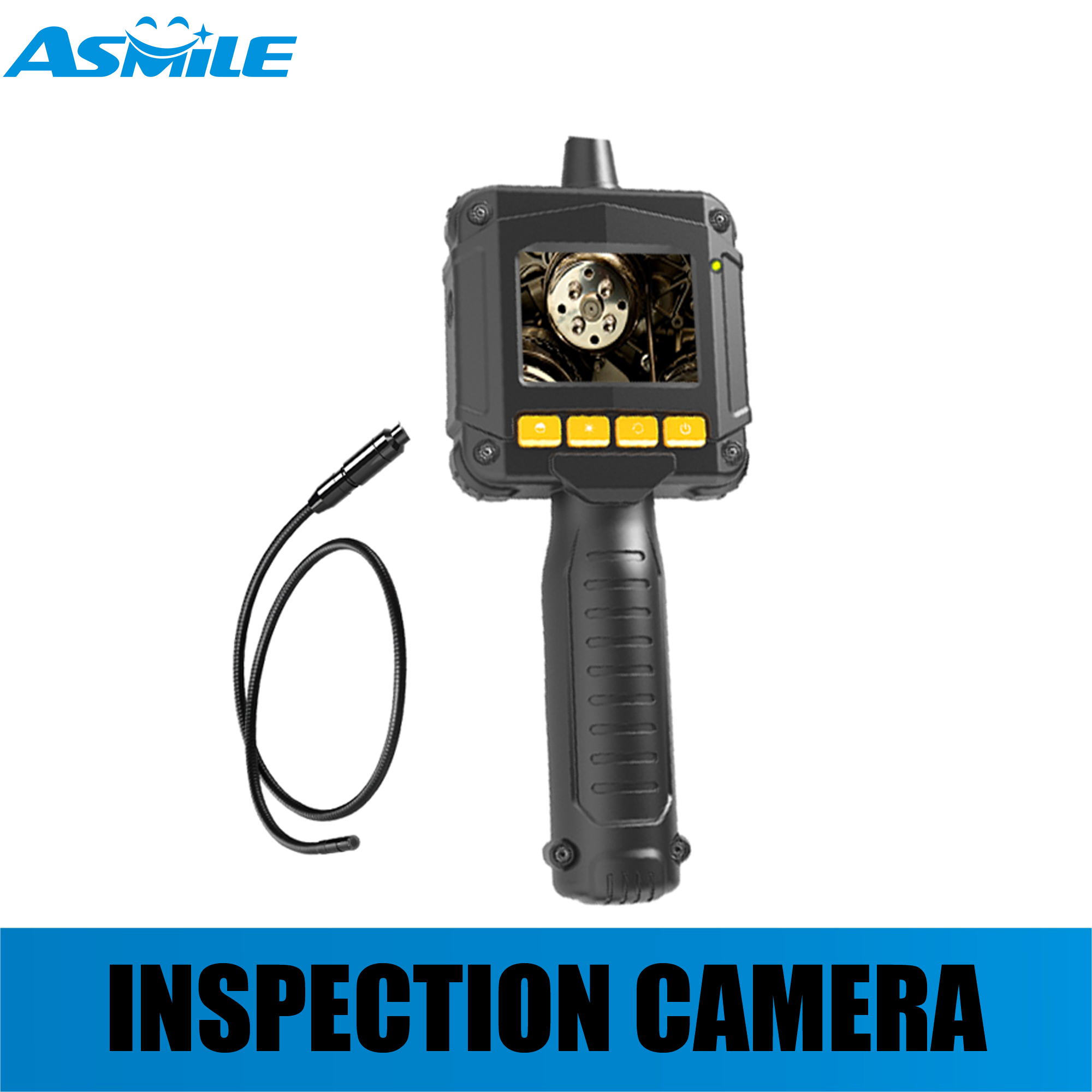 OEM ODM air duct pipe auto inspection snake camera with Image flip function to view in diferent angles image