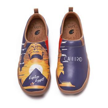 UIN/мужские лоферы; Повседневная обувь из микрофибры; Модель 2020 года; Египетская серия; Мужские слипоны в египетском стиле