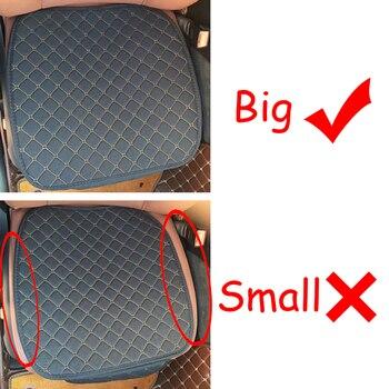 Grande taille lin housse de siège de voiture protecteur lin avant ou arrière siège arrière coussin coussin tapis dossier pour Auto intérieur camion Suv Van 1