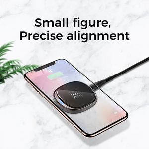 Image 3 - Joyroom 10W Fast LED Wireless Charger For Samsung Galaxy S7 S6 EDGE S8 S9 S10 Plus Usb cable For iPhone 8 x 11 portable charger