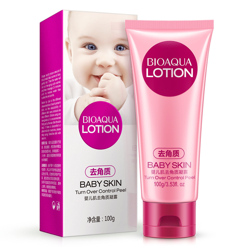 Boquanya Infant Muscle Exfoliation Lotion Cleansing Water Moisturizing Nourishing Exfoliating Scrub Cleansing Foam Processing