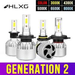 Hlxg H4 светодиодный H7 H11 H8 HB4 H1 H3 9005 HB3 Авто S2 автомобилей головной светильник лампы 72W фары для 8000LM автомобильные аксессуары 6500K 4300K 8000K светодиод...