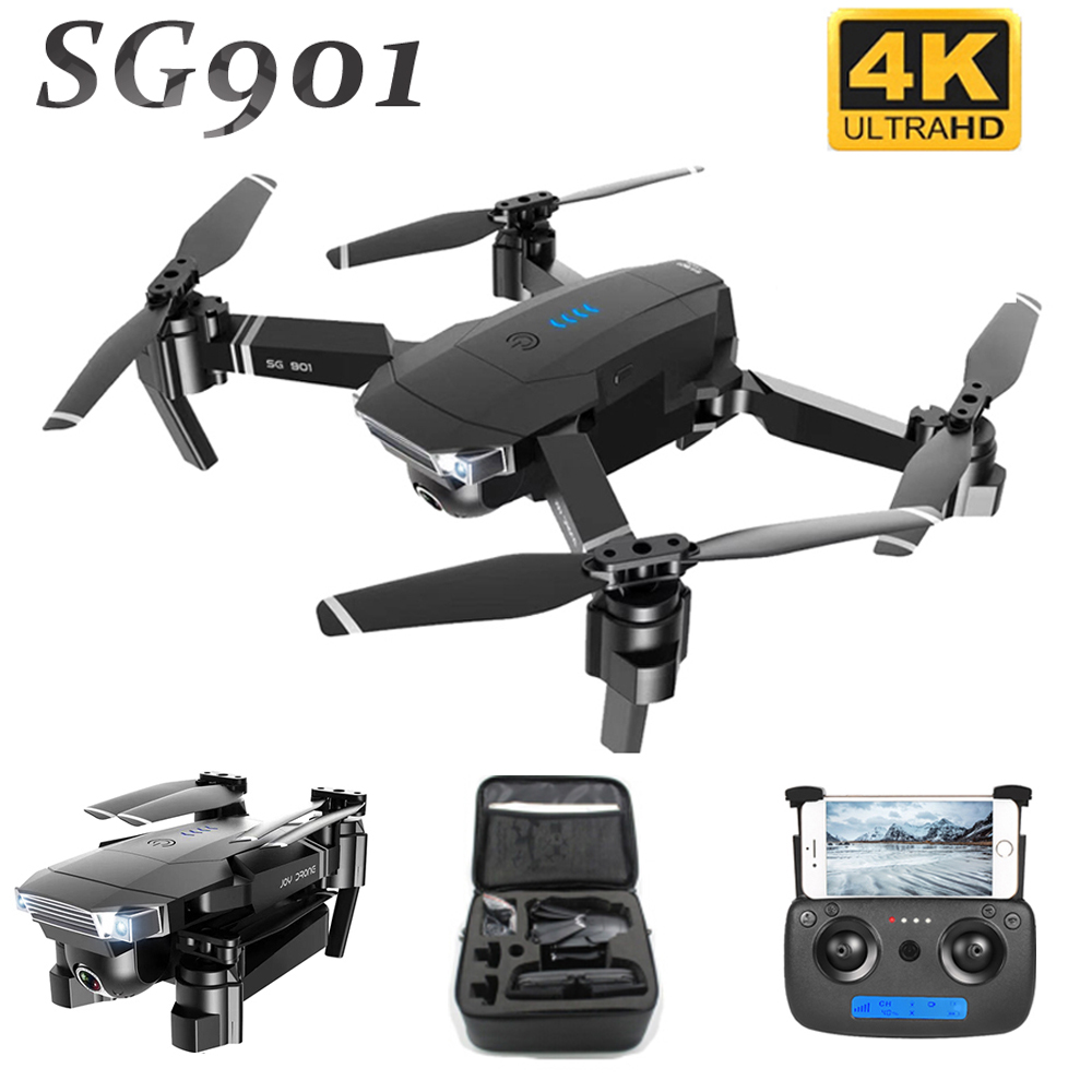 SG901 RC Drone With Dual Camera 4K HD Professional Dron Optical Flow Mini Foldable RC Quadcopter FPV WIFI Camera Drone Toys 2019