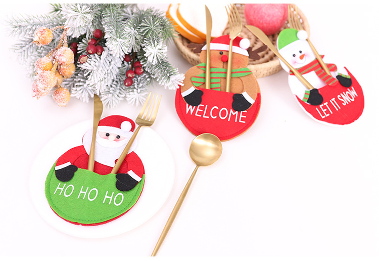 1 шт рождественские украшения держатель для кухонной посуды