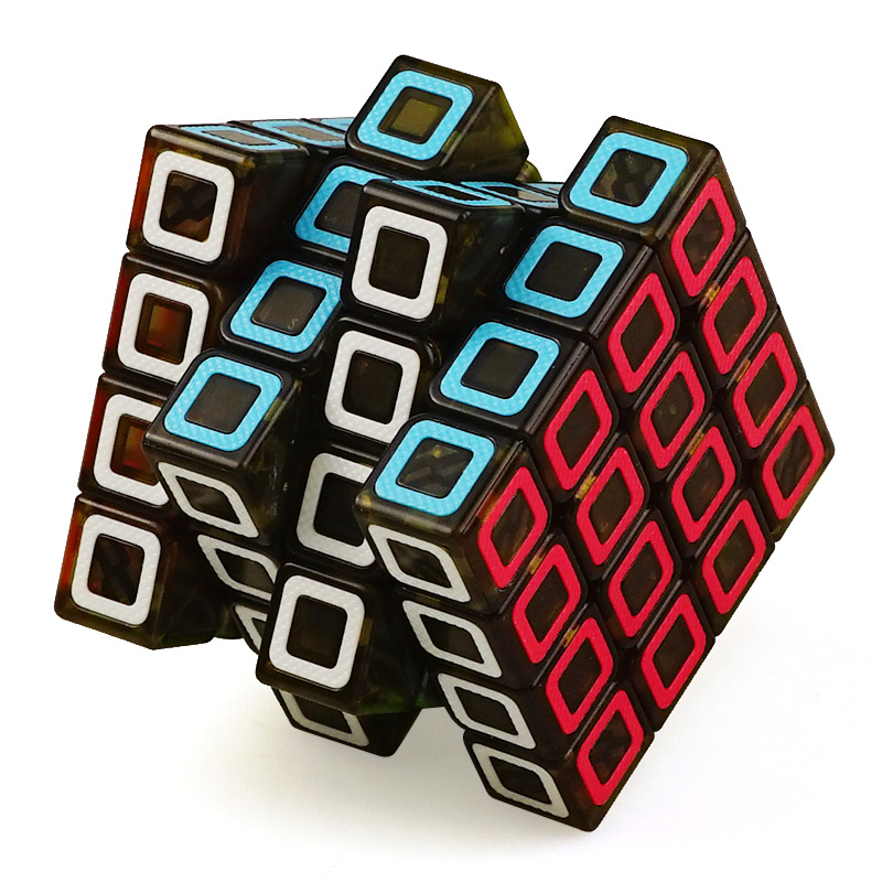 QiYi Dimension 6.5CM 4x4x4 Cube Speed Magic Puzzle Fidget Cube Colorful Grid antistress Neo Cubo Magico For Kids Education Toy