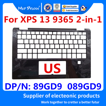new Original Laptop Replacement US Palmrest Upper Cover Case for Dell XPS 13 9365 2-in-1 With fingerprint hole 89GD9 089GD9