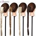 SNOILITE 21 ''Синтетический прямой коготь на конском хвосте для наращивания волос длинный рыбий хвост коса заколка для волос на шнурке конский хв...