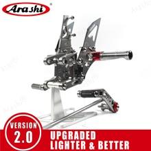 مسند للقدمين قابل للتعديل للدراجة النارية من Arashi للدراجة هوندا CBR1000RR 2004   2017 مسند للقدمين CBR1000 CBR 1000 RR 2008 2009 2010 2011