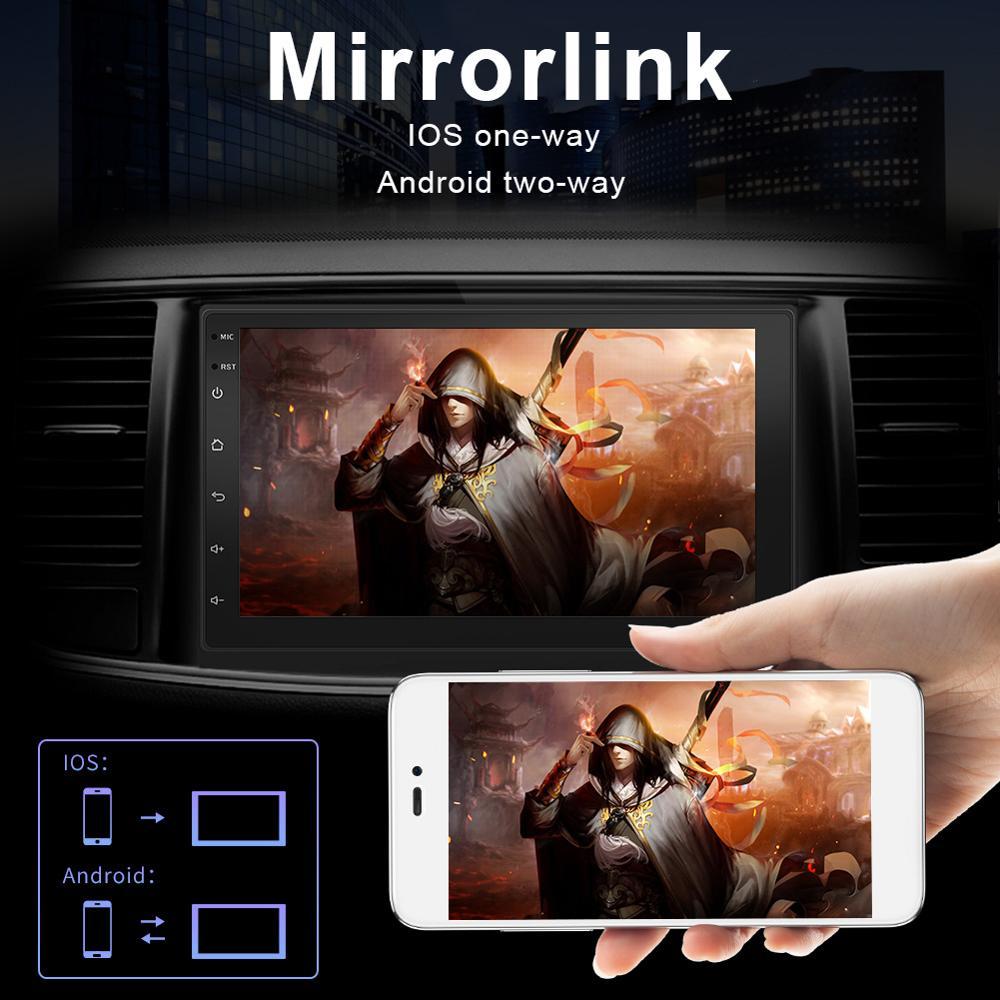 7Inch 16G Flash Auto Kapazität Touch Screen Android GPS Navigation Sat Nav Bluetooth WIFI 3G FM U disk Karte Radio Auto-Player