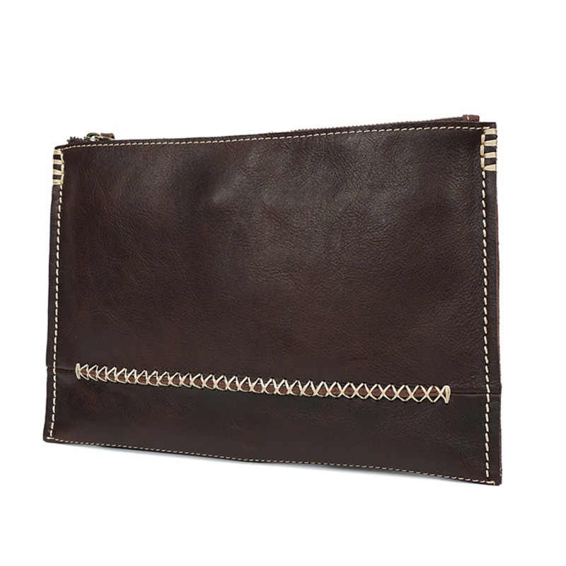 Genuine Leather Men's designer Hand Take Cowhide Men And Women Package Ultrathin Folder High-quality card wallets pocket bag