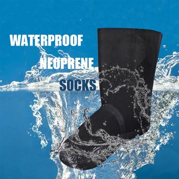 Para 2mm neoprenowy Drysuit Boot wodoodporne wodery skarpety ciepłe Stockingfoot Snorkeling Wakeboarding kajakarstwo kajakarstwo żeglarstwo tanie i dobre opinie SOCKS Skiing Black Waterproof Wader Drysuit Wetsuit