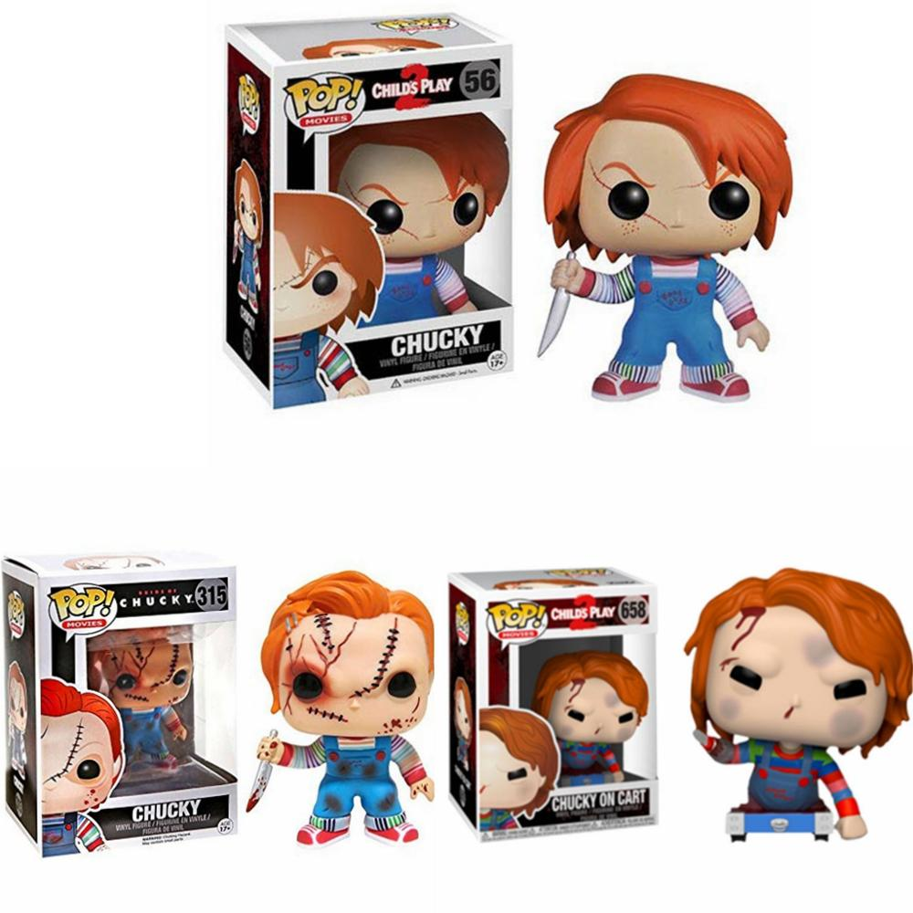 Funko pop Thriller Movie Child's Play & Chucky on car Vinyl Action Figure Collection Model Toys for Children Birthday gift