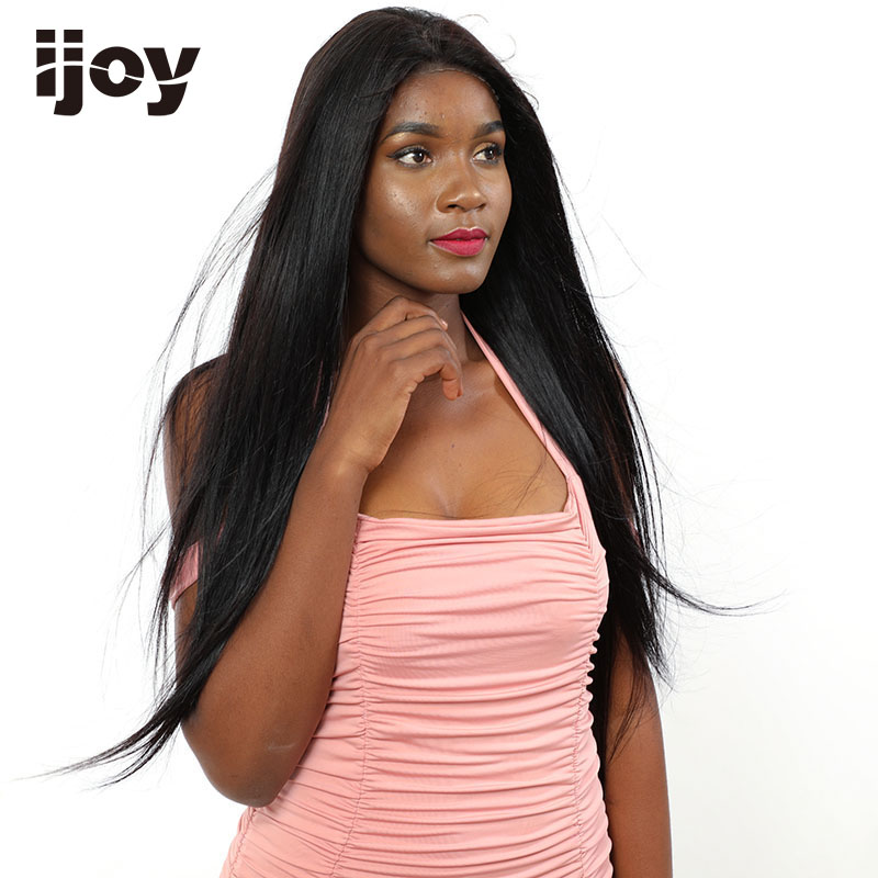 """Straight Human Hair Wigs 4x13 Lace Front Classic Wig Brazilian Hair Non-Remy Wigs Natural Black 16""""-26"""" Real Length Wig IJOY"""
