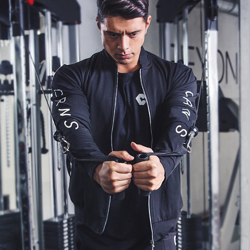 2019 New Men Jackets Autumn Coat Men Casual Zipper Jacket Fittness Sportswear Bodybuilding Clothes For Men