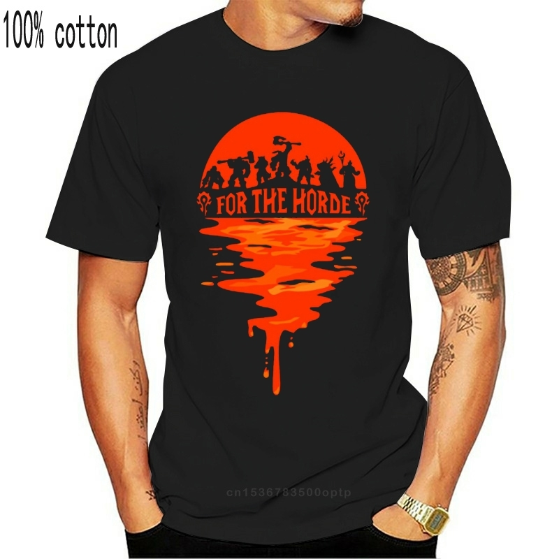 World_Of_Warcraftes For The Horde T Shirt Vintage Plus Size 5xl Crazy Customize Summer Tee Shirt Building Cool Shirt