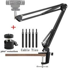 Desktop Webcam Tripod Stand with Stabilizer Suspension Boom Scissor Arm Web Camera Stands for Logitech Web Cam C922 C930e C920
