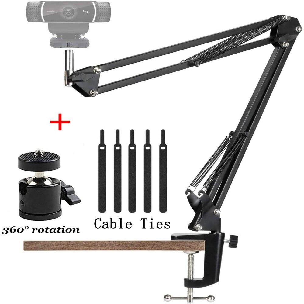 מצלמת אינטרנט שולחן העבודה חצובה Stand עם השעיה מייצב בום מספריים זרוע אינטרנט מצלמה מייצג Logitech אינטרנט מצלמת C922 C930e C920