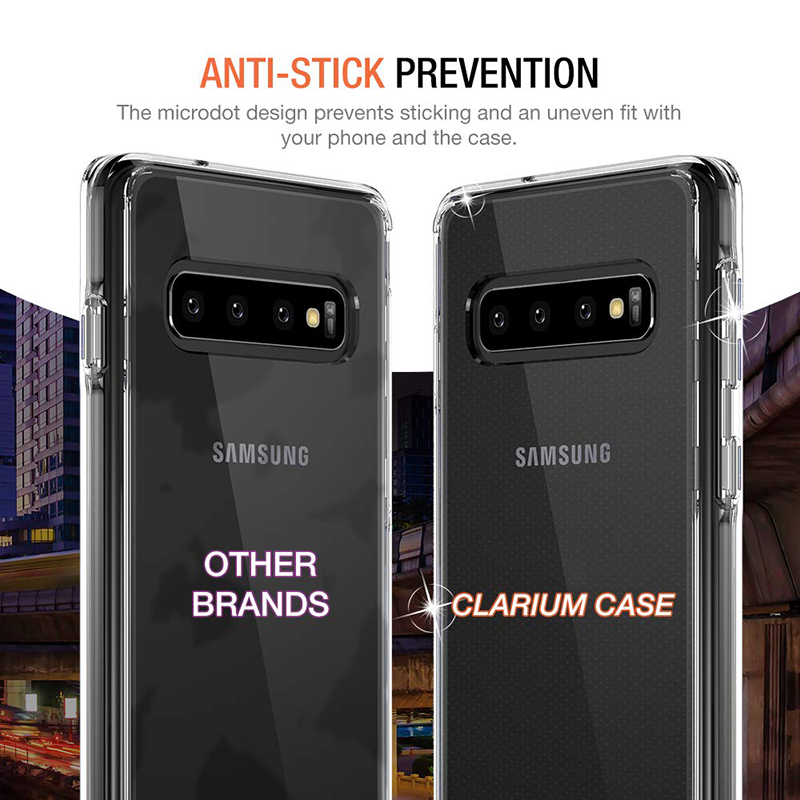 Clarium Case Designed for Galaxy S10 Case (2020) - Clear TPU Cushion/Hybrid Rigid Back Plate/Reinforced Corner Protection Cover for Samsung Galaxy S 10 Phone (PowerShare Compatible) 1