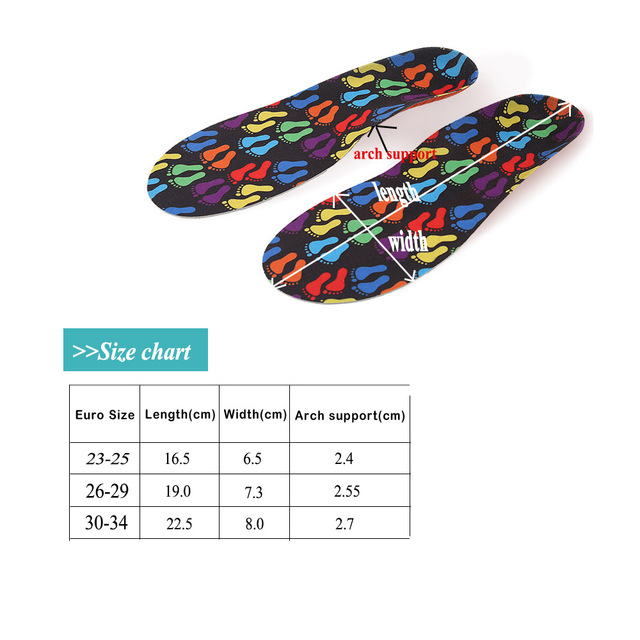 Kids  Orthopedic Insole EVA Comfort Cushion Shoes Insoles Boys Girls Cute Cartoon Insoles Children Breathable Inserts Feet Pads