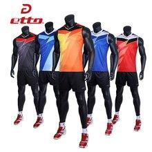 Etto профессиональный мужской костюм без Рукавов Джерси для волейбола, быстросохнущая форма для волейбола, тренировочная спортивная одежда ...