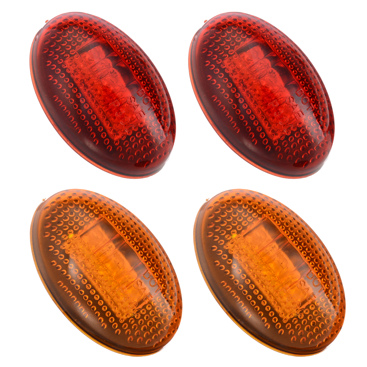 4pcs set 3LED 12V Fender Side Marker Light Amber Red Car Front Rear Side Marker Lamps For Ford F350 1999 2010 in Signal Lamp from Automobiles Motorcycles