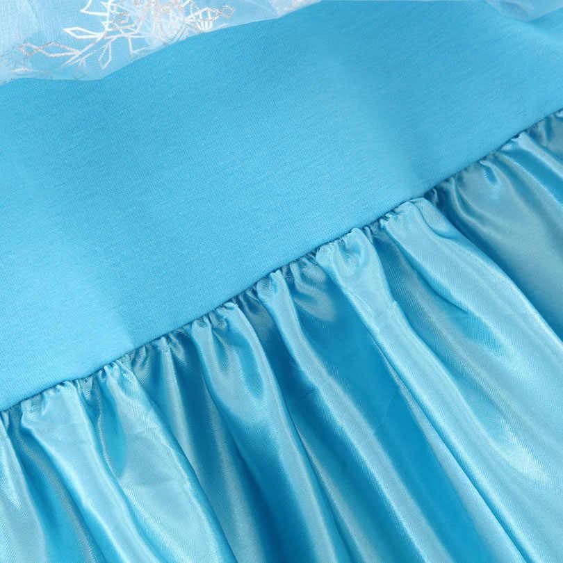 Elsa Dress Princess Girl Dresses Costumes Children Fancy Party Anna Dress Carnival Girls Clothing Halloween 2-8T