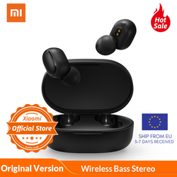 Xiaomi Redmi AirDots TWS Bluetooth 5 Earphone In Ear Wireless Stereo bass Mic Handsfree AI Control 【in Stock】
