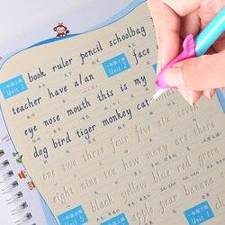 Wielokrotnego użytku klasa 1-6 angielski podręcznik słowo rowek książka zeszyt włoski kursywa angielski praktyka dla dzieci zeszyt prezent dla dzieci