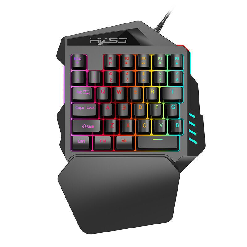 Free Wolf V100 One-Handed Keyboard Stranglehold Throne Left Hand Machinery Handfeel Gaming Keyboard Amazon EBay Cross Border