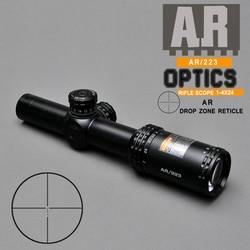 1-4X24 AR 223 Fast Focus Short Riflescope Optics Drop Zone-223 For Outside Sniper