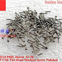 Винты из нержавеющей стали M1x4 DIN 965 плоская головка CSK 00# Philips A2-70 водителя полированная 100 шт