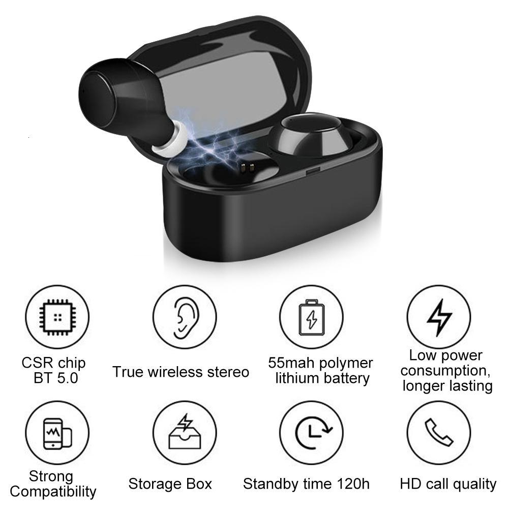 XY-3 Binaural Bluetooth Earphone In - Ear Bluetooth 5.0 TWS Earbuds Deep Bass Stereo Sound Headset With Charging Case For Phone
