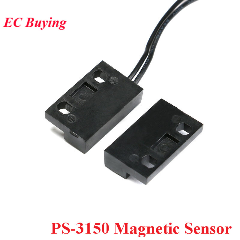 PS-3150 Normally Open Proximity Magnetic Sensor Reed Switch For Door Window Contacts 30cm Wire Cable Inductance Distance 1-40mm