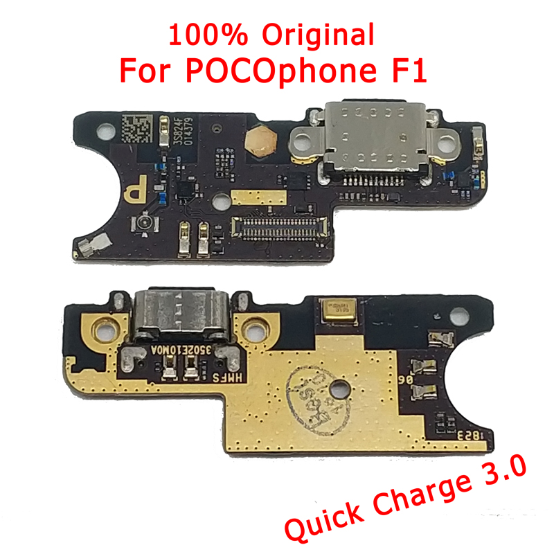 Original Cargo Charge Board For Xiaomi Mi POCOPhone F1 USB Plug Charging Port PCB Motherboard For Mi POCOPhone F1 Repair Parts