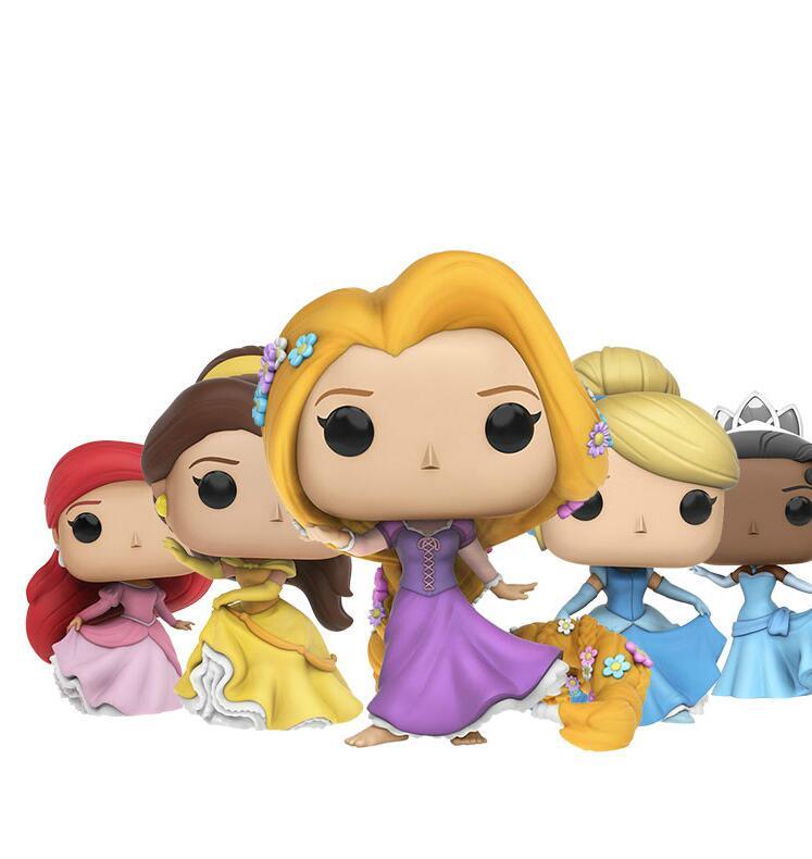 Funko Pop Anime Cartoon Princess Elsa Bell Alice Anna Snow White Cinderella Collection Model Toy Movie Action Figure Kids Toys