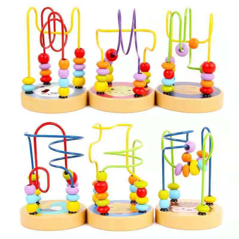 Montessori Ideas Educational Wooden Educational Toys Mini Bead Beads Game Animals Beads Factory Direct