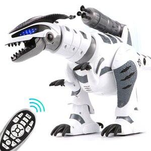 RC Интеллектуальный динозавр модель Электрический пульт дистанционного управления робот Механическая война дракон с музыкой и светильник ...