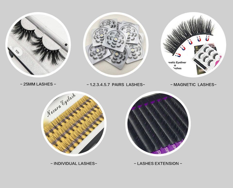 cílios extensão maquiagem vison cílios