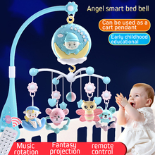Baby Rattle Multifunctional music bell rotating rattles bedside  Crib Toys Holder Rotating Mobile Bed Musical Box Newborn Infant baby musical crib mobile bed bell toys hanging rattles newborn infant starry flashing projection rotating toy holder bracket