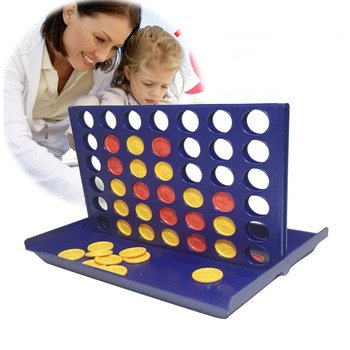 1 Set Connect 4 In A Line Board Game Foldable Children's Educational Toys for Kid Sports Entertainment Gifts ZXH