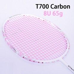 Rosa T700 In Fibra di Carbonio Racchette Da Badminton Con Il Sacchetto di Stringa Racchetta Professionale Super Luce 8U Racchetta 65g-68g velocità di Sport Padel