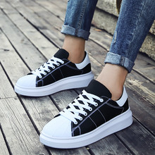 2019 new women flats sneakers shoes casual flatform wedge couple shoe woman round toe canvas lace up  wxx045 lace up flatform mesh sneakers