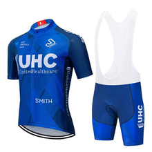 UHC 2020 pro team cycling jersey kit men summer set maillo racing bicycle MTB clothing ropa ciclismo hombre bib gel shorts 2020 new cycling jersey set pro cycling kits summer men racing bicycle maillot ciclismo mtb short jersey bib shorts team suit