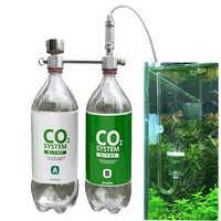 Peixe de estimação Para As Plantas de Aquário Acessórios CO2 Gerador de Sistema de Ajuste Do Fluxo De Ar de Alívio de Pressão Profissional Da Liga de Alumínio DIY